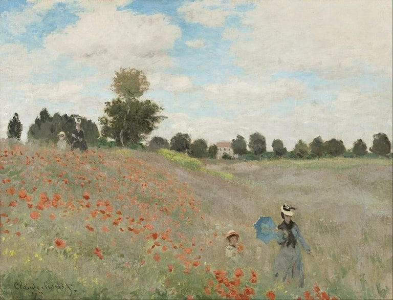 Reproductie Claude Monet - klaprozen