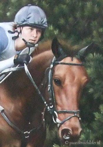 Portret paard en mens