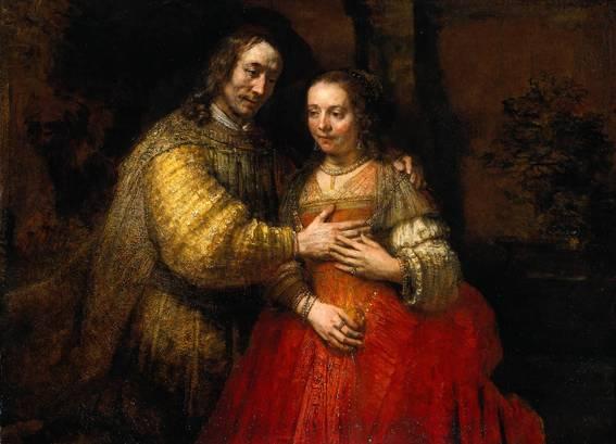 Rembrandt - De joodse bruid