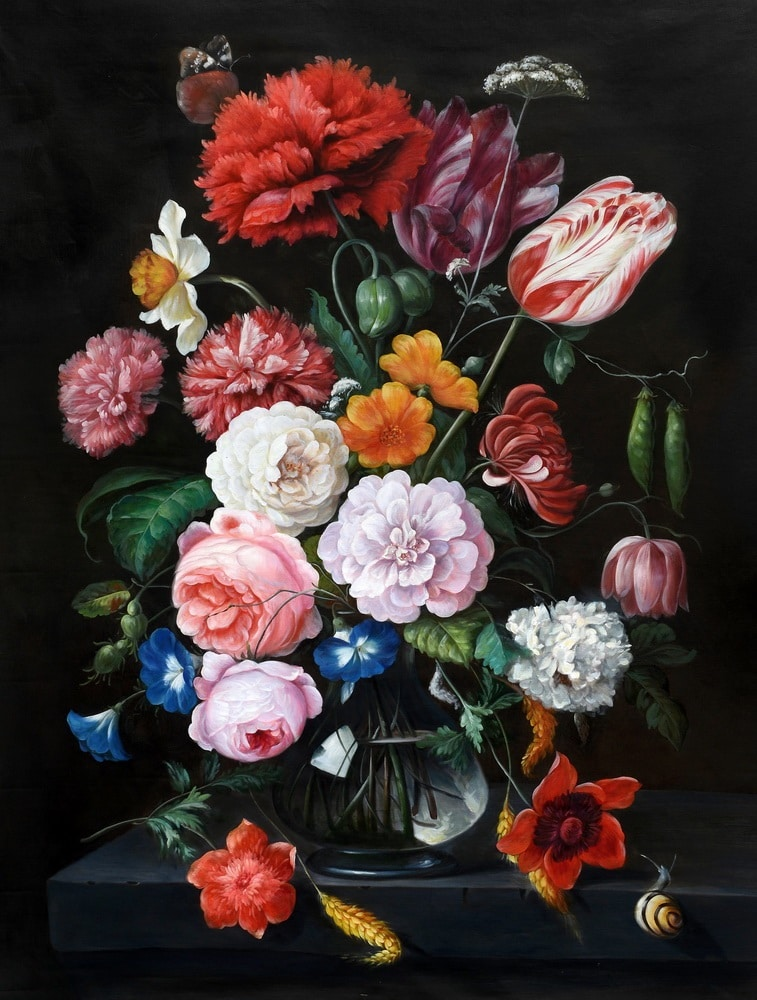 Gfestomen schilderij zonnehart 2010 haikoes en moderne kunst for Schilderijen van bloemen