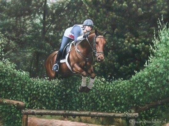Springruiter met paard