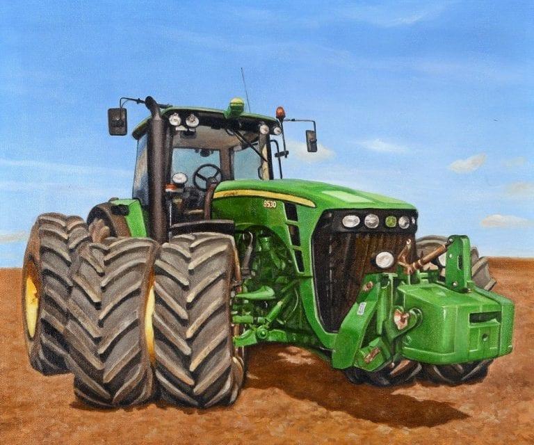 Schilderij tractor