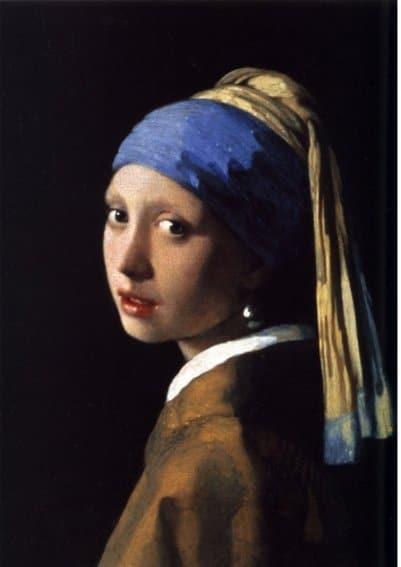Meisje met de parel - reproductie Vermeer