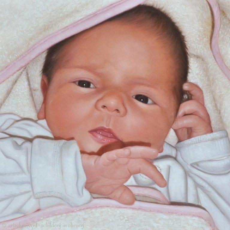 Schilderij baby