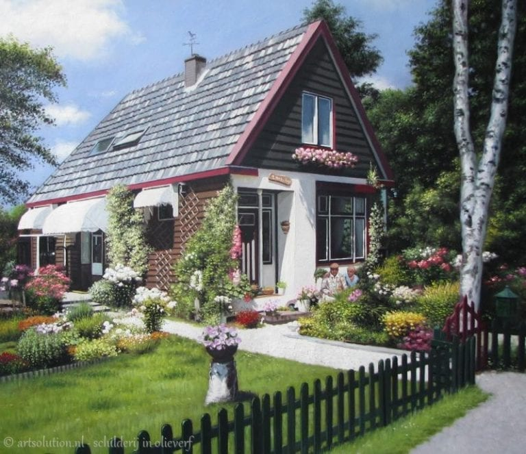 Huis - bloemrijk