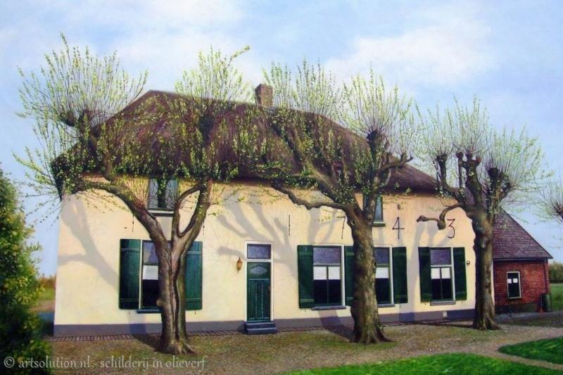 Huis schilderij boerderij schilderijen for Schilderij huis voorgerecht
