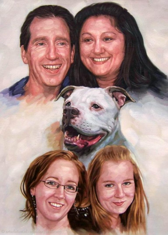 Familie met hond