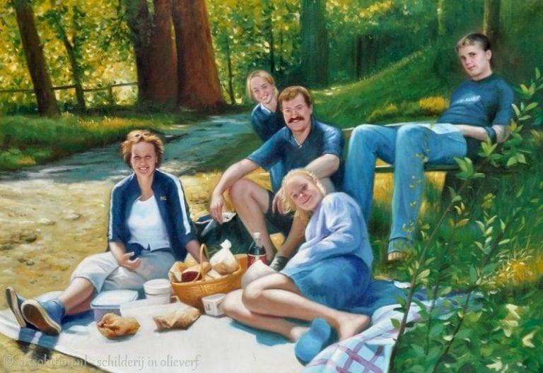 Groepsportret - picknick