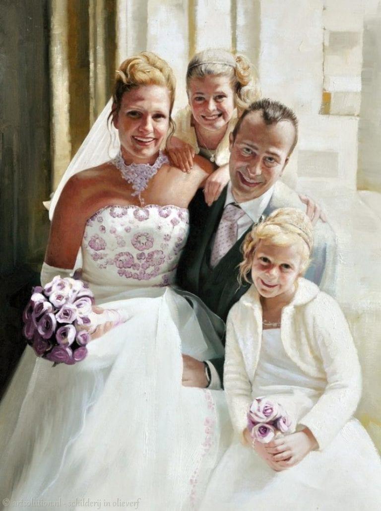 Familieportret - huwelijk