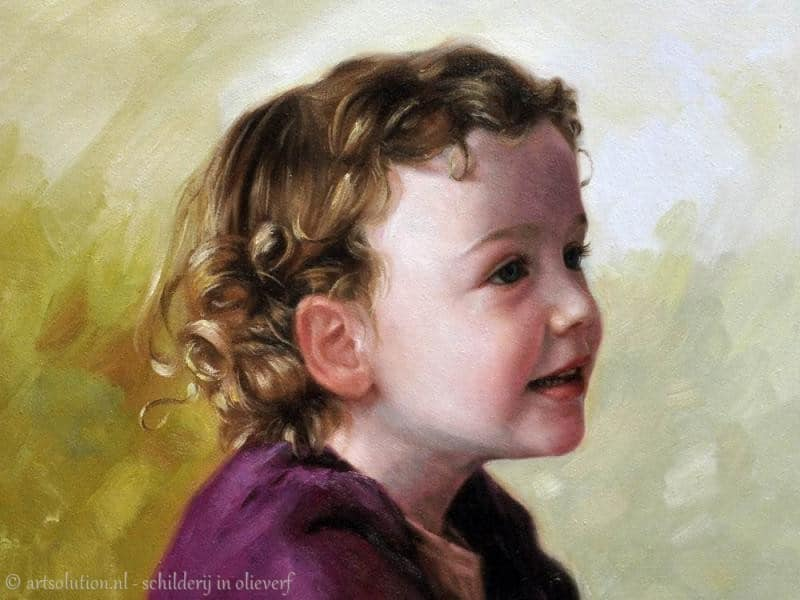 Schilderij modern kinderportret