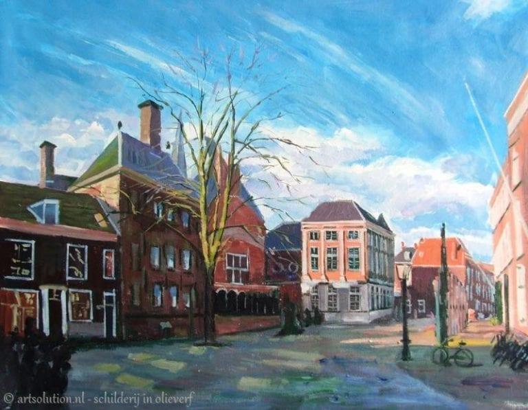 Schilderij stad - Leiden