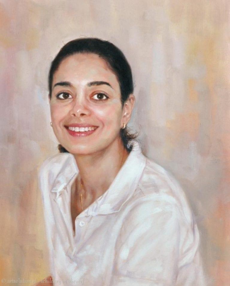 Portretschilderij - lief