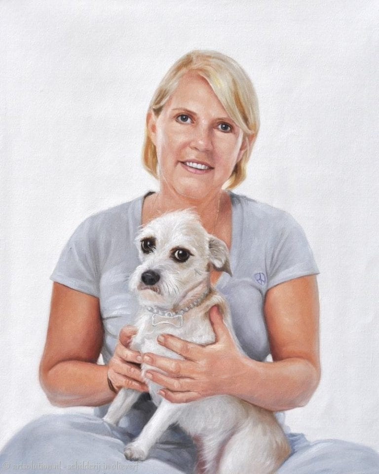 Portret hond en mens