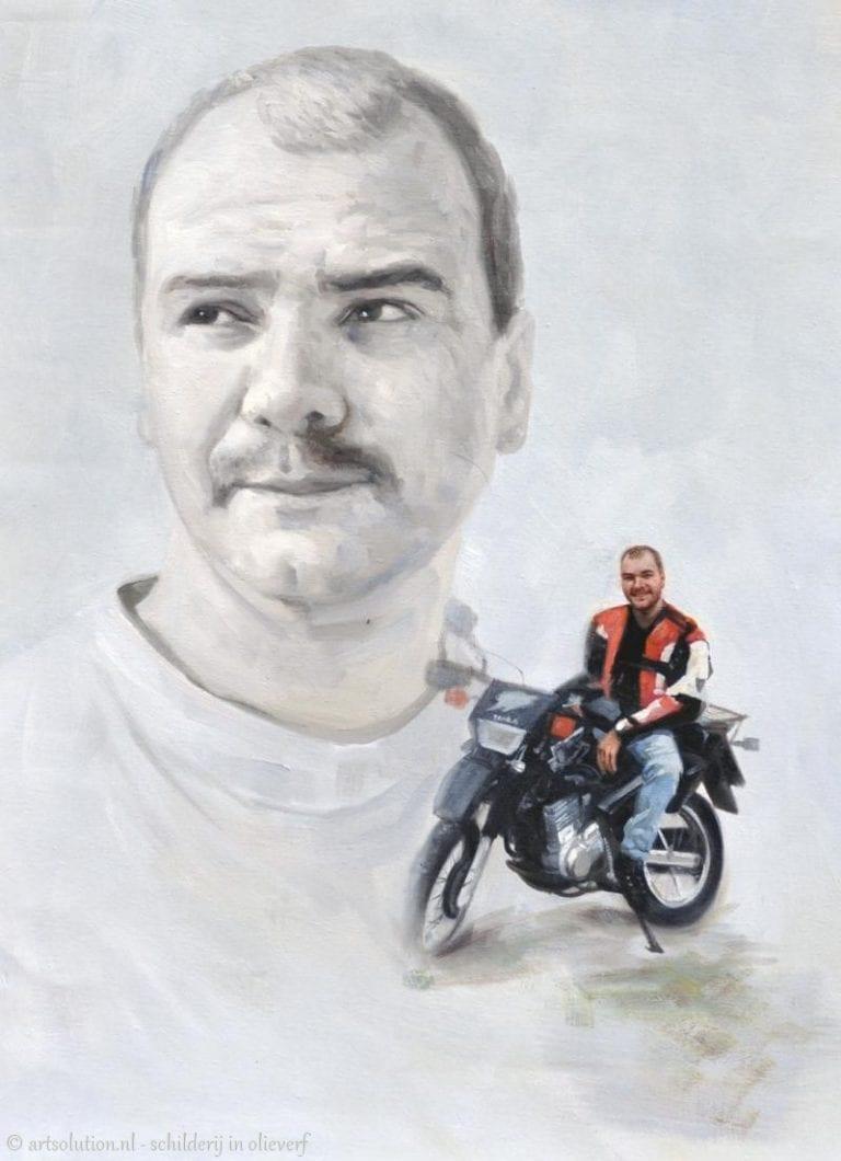 Portret met motor