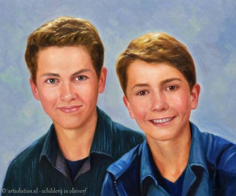 Jongen schilderij - Schilderen kind jongen ...