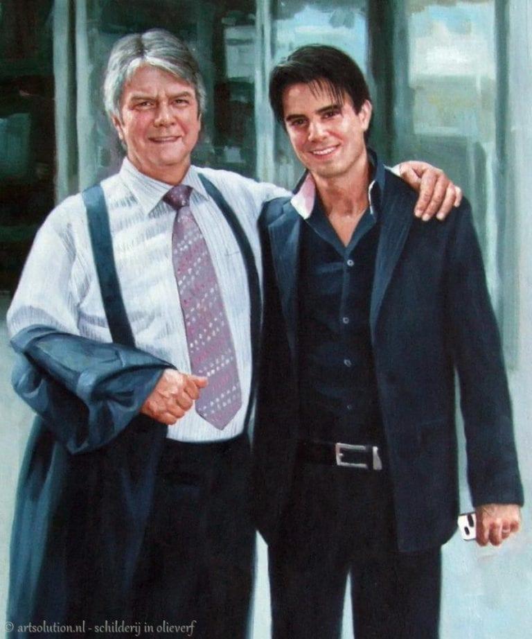 Generatieportret vader en zoon