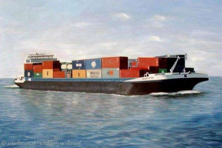Containerschip - vrachtschip