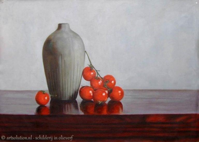 Stilleven - voorwerp - eten en drinken schilderij