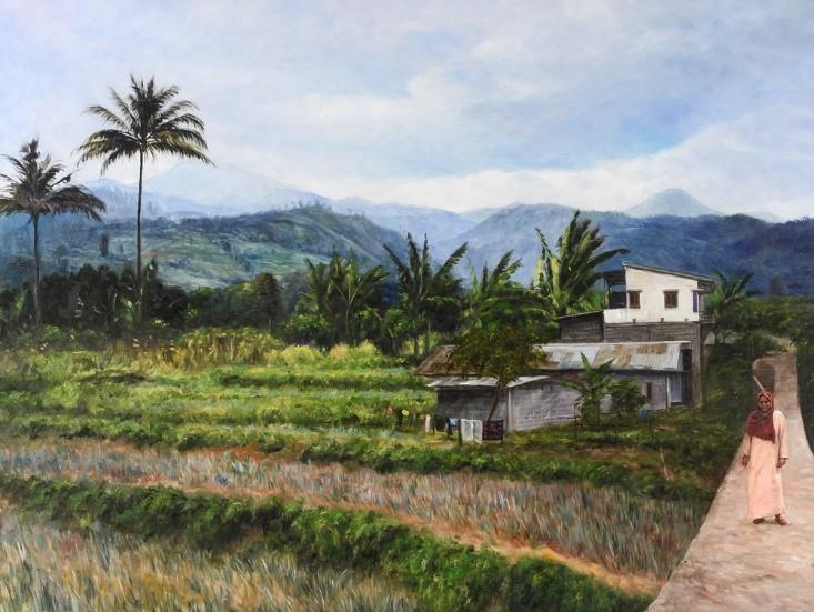 Schilderij Indonesie olieverf